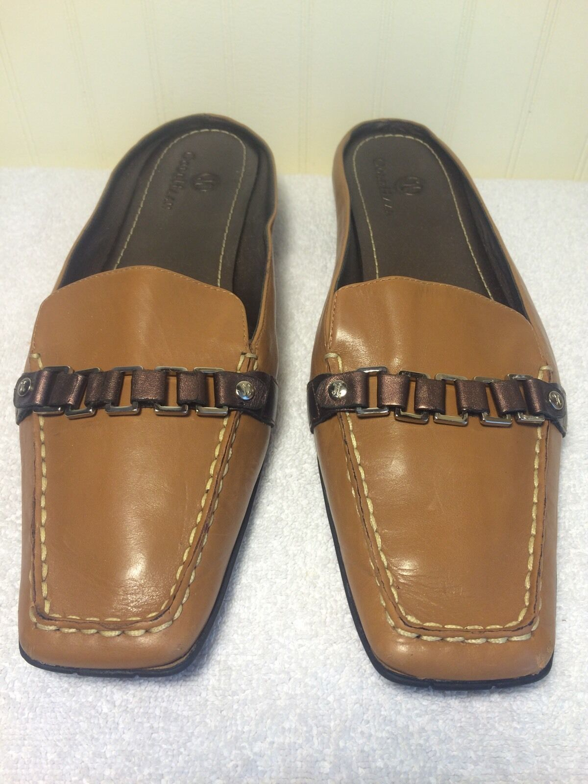Women's Cole Haan Air Slip On Loafers US 7.5 B Tan Brown Casual Dress Shoes