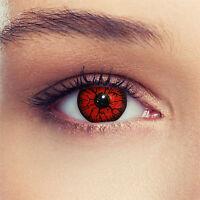 Crazy Farbige Colored Red Devil Kontaktlinsen Contact Lenses Lentilles Halloween