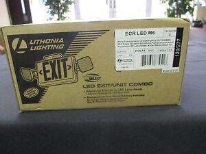 Lithonia Lighting ECR LED M6 New, Open Box Exit/Unit Combo