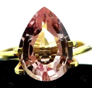 4.55 Ct Natural Padparadscha Sapphire Ceylon Pear Cut Certified Loose Gemstone