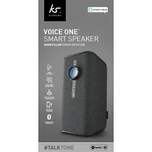 KitSound Voice One Smart Speaker with Alexa New and Sealed