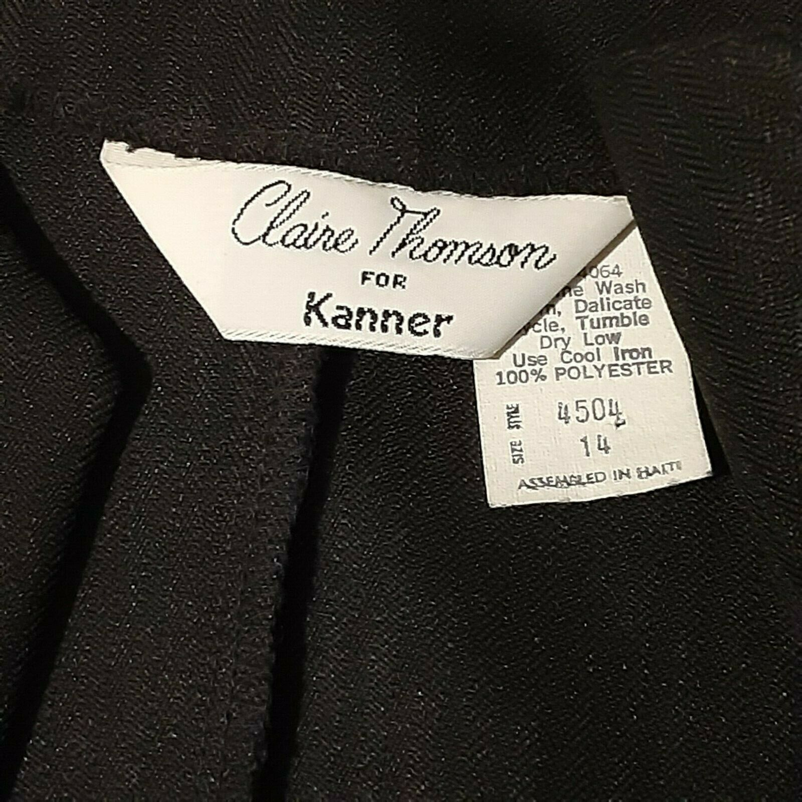 VINTAGE Claire Thomson for Kanner Skirt Suit Reg … - image 4