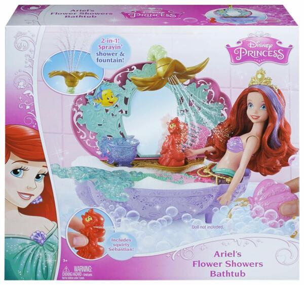 100% Vero Disney Princess Ariel Dei Fiori Per Doccia Vasca Da Bagno Accessorio Per 3 Anni E Fino Design Professionale