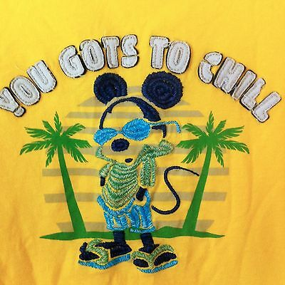 Mickey Mouse Tee Shirt Small Disney Parks You Gots to Chill Raw Edge Unisex