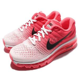 Details about Wmns Nike Air Max 2017 White Black Hot Punch Women Running Shoes 849560 103