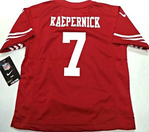 quite nice e7ecd 43d86 Details about MED-NWT NIKE AUTHENTIC NFL COLIN KAEPERNICK SAN FRANCISCO  49ers KIDS JERSEY $65