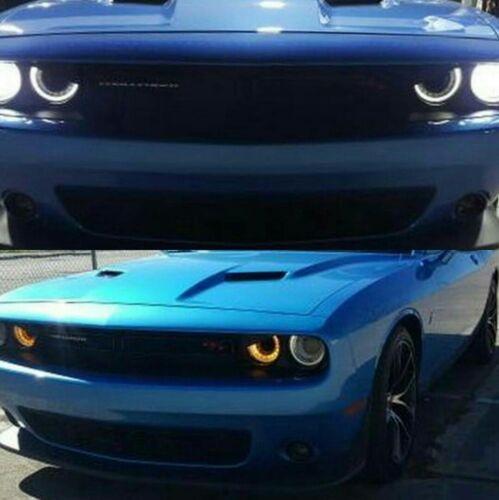 Challenger//Hellcat Aggressive Headlight Visors 1 /'15