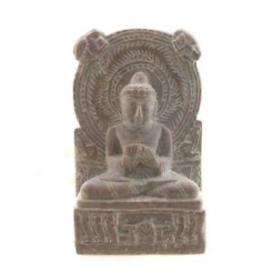 Statuetta Da Lord Budda Sarnath IN Pietra Intagliato Alla Mano India 4998