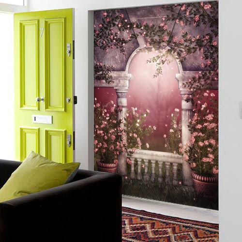 3D Corridor Flowers 43 Wall Paper wall Print Decal Wall Deco Wall Indoor Murals