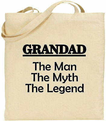 Opa The Man Mythos Legend Groß Baumwolltasche Einkaufstasche Lustig Weihnachten