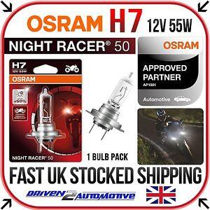 10.11 K71 1x OSRAM H7 NIGHT RACER 50 BULB FOR BMW F 800 GT