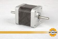 ACT Motor GmbH 1PC Nema17 17HS5425B Schrittmotor Dual Shaft 2.5A 48mm 58N.cm