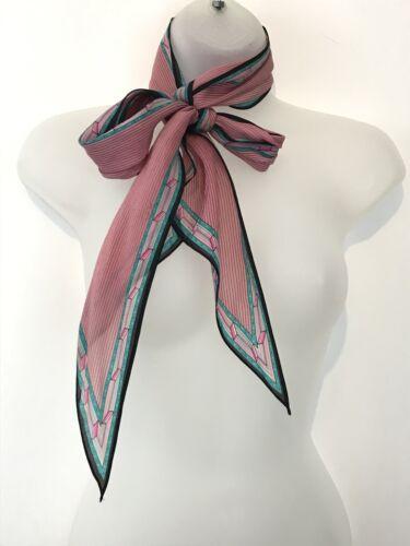 katja Oblong pink scarf vintage