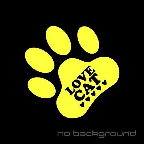 Love Cat Sticker Vinyl Decal Kitty Paw Cute Pet Animal Meow Car Window Bumper