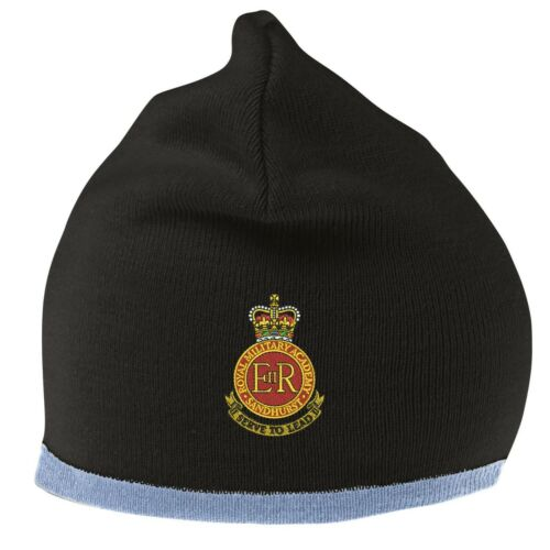 Royal Military Academy Sandhurst Beanie Hat with Embroidered Logo