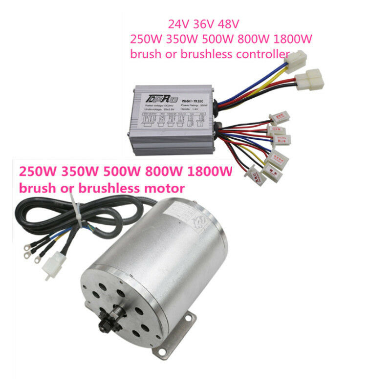 24v-48v 250w-1800w Electric Brushless Brush Motor Speed Controller ATV Bicycle
