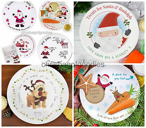 Image is loading PERSONALISED-Santa-Mince-Pie-Christmas-Xmas-Eve-Plate-  sc 1 st  eBay & PERSONALISED Santa Mince Pie Christmas Xmas Eve Plate Gift Gifts ...