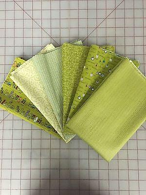 OOP Moda Sweetwater Road 15 Fabric Fat Quarter Bundle in Pickle Green