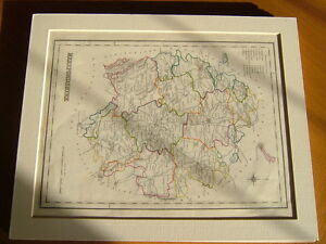 ANTIQUE-HAND-COLOURED-MAP-OF-HEREFORDSHIRE-FROM-LEWIS-039-TOPOGRAPHICAL-DICTIONARY