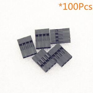 100pcs-2-54-mm-4p-Pitch-Dupont-Jumper-Cable-de-alambre-Carcasa-Pin-Hembra-Conector