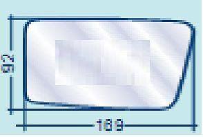 CITROEN AX VETRO DX PIANO ARGENTATO PER SPECCHIETTO RETROVISORE COD.700//30036