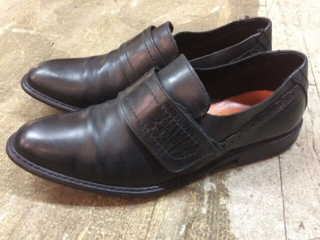 FLY LONDON  monk strap loafers slip on dress classic mens shoes sz 42 ( 8 ? )