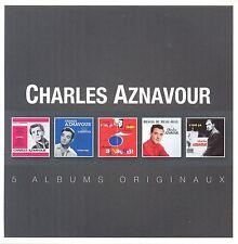 CHARLES AZNAVOUR - ORIGINAL ALBUM SERIES 5 CD NEW+