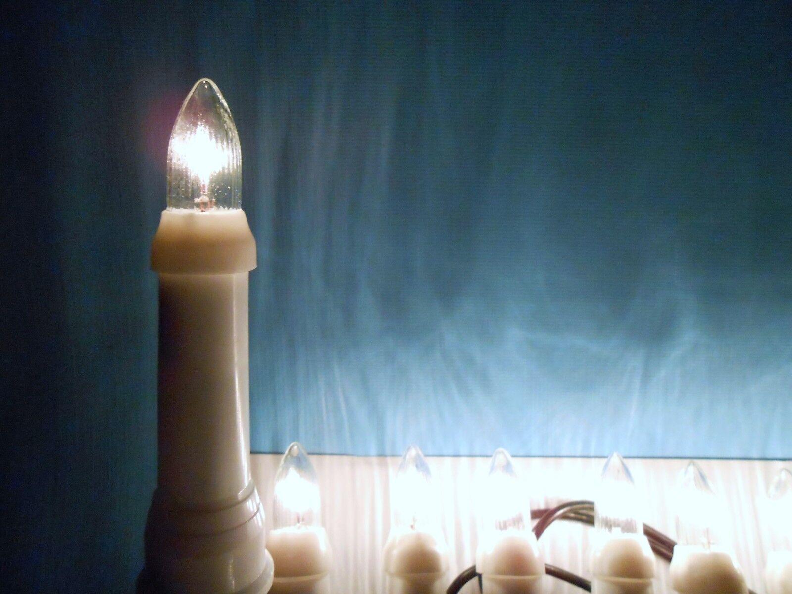 Illuminazione Natale Esterno : Tre tre tre albero di natale illuminazione candele scanalate