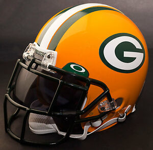 b55e25b1681 Image is loading GREEN-BAY-PACKERS-NFL-Authentic-GAMEDAY-Football-Helmet-