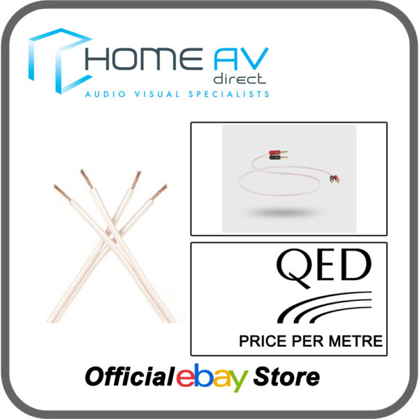 Qed Micro Performance Speaker Cable Thin Slim - Per Metre - C-qm/200 Exquisite Traditional Embroidery Art