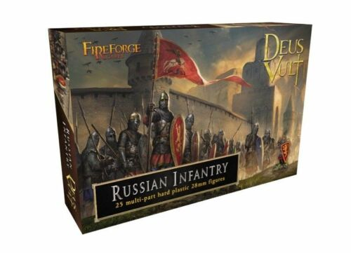 FIREFORGE GAMES DEUS VULT 28mm Russian Medieval Infantry 25 Figures FREE SHIP