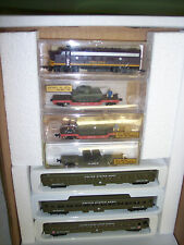 """N "" US ARMY SOO LINE FP-7 A & 6  CARS SUPPLY TRAIN 3 FLATS W/ LOADS # 2011-16"