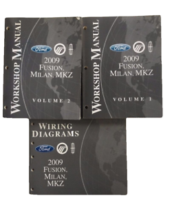 2009 Ford    Fusion       Milan       MKZ    Workshop Repair Manual Vol 1 2   Wiring    Diagram      eBay