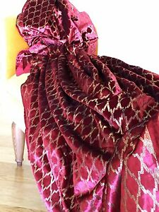 A-Sumptuous-Luxurious-Decorative-Chiffon-Velvet-Throw-Cover-red-ruby-gold