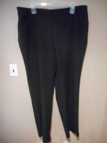 Extra Plus 3x Pants Long 24 Lavoro Size Pant Ashley Stewart Carriera 22 Tall Black aUPPYg
