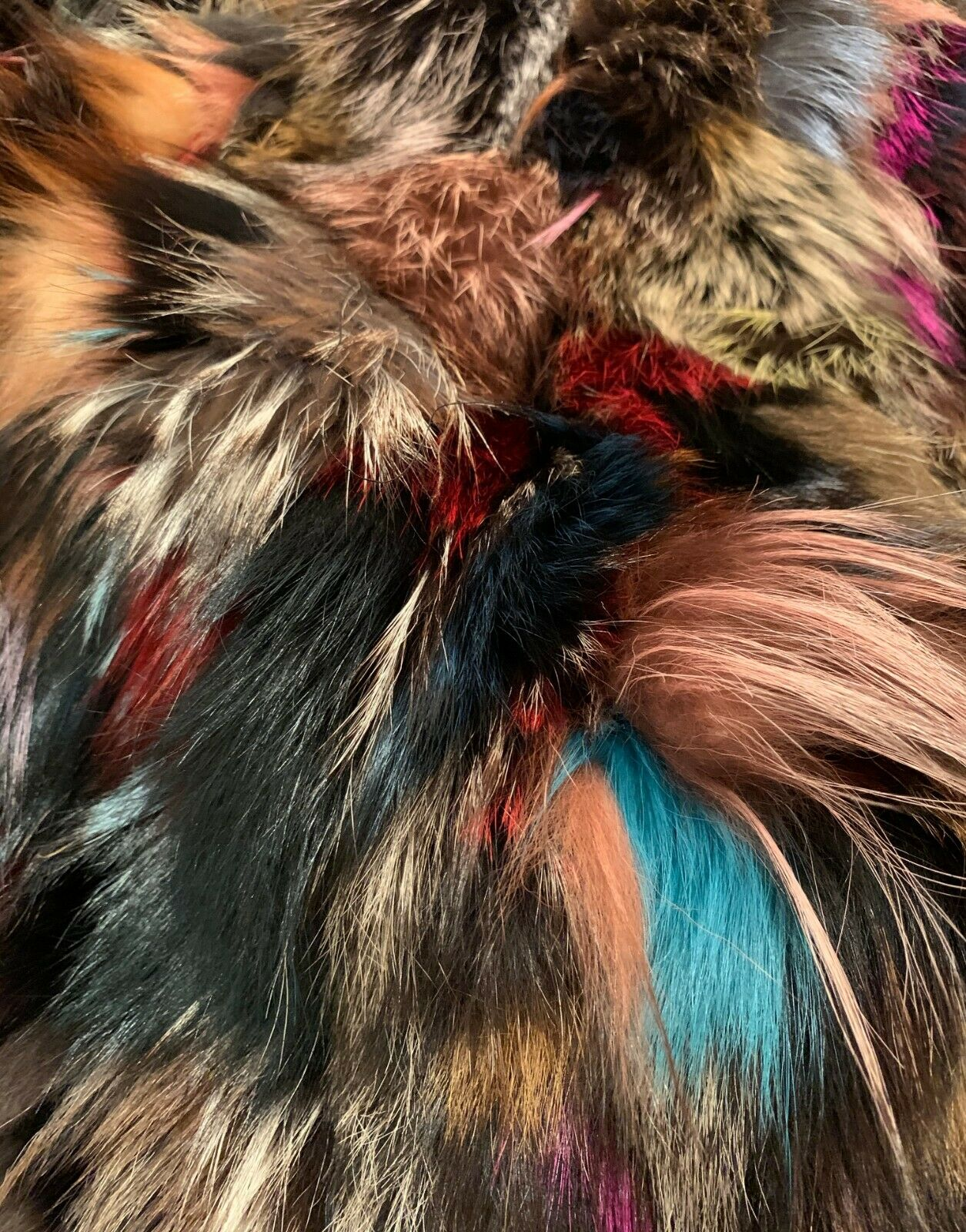D. Damiani NY Multi-Color Fur Lined Coat Small - image 6