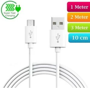 Heavy-Duty-Long-Fast-Charge-Micro-USB-Data-Sync-Phone-Charger-Cable-2m-3m-Lead