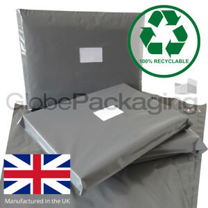 STRONG-GREY-POSTAGE-MAILING-BAGS-100-RECYCLABLE