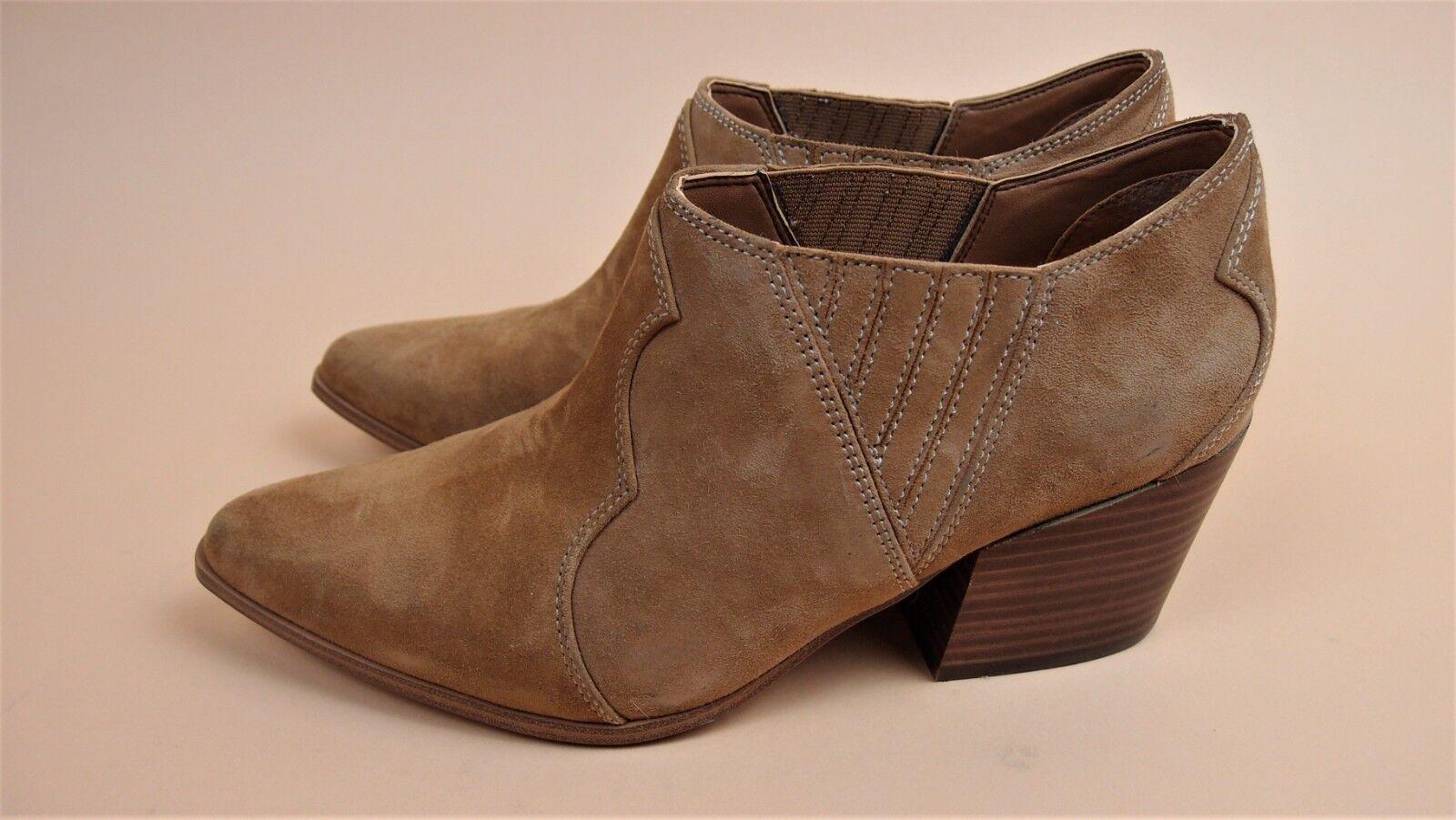 Aldo Véritable Daim tan Bas Cowboy Cubain pointu à talon chaussures UK 8 BNWB