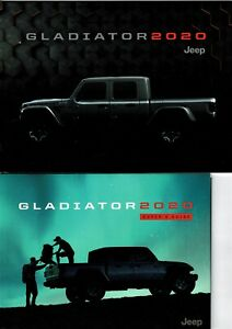 2020 Jeep Gladiator Sport Overland Rubicon Sales Brochure W/Buyers Guide NEW!
