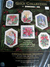 Dimensions GOLD COLLECTION Counted Cross Ornament Kit,CHRISTMAS KEEPSAKE,#8660