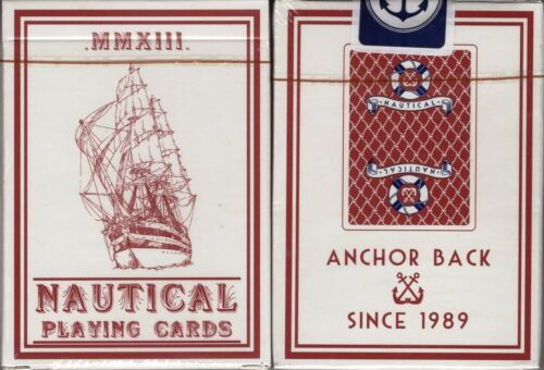 Nautical Red Playing Cards Poker Size Deck HOPC Edo Huang Custom Limited Sealed