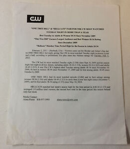 ONE-TREE-HILL-set-used-2009-crew-distributed-PRESS-RELEASE