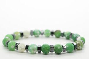 Green-Agate-Natural-Stone-Beaded-Bracelet-for-Men-Women-Chakra-Charm-DT256
