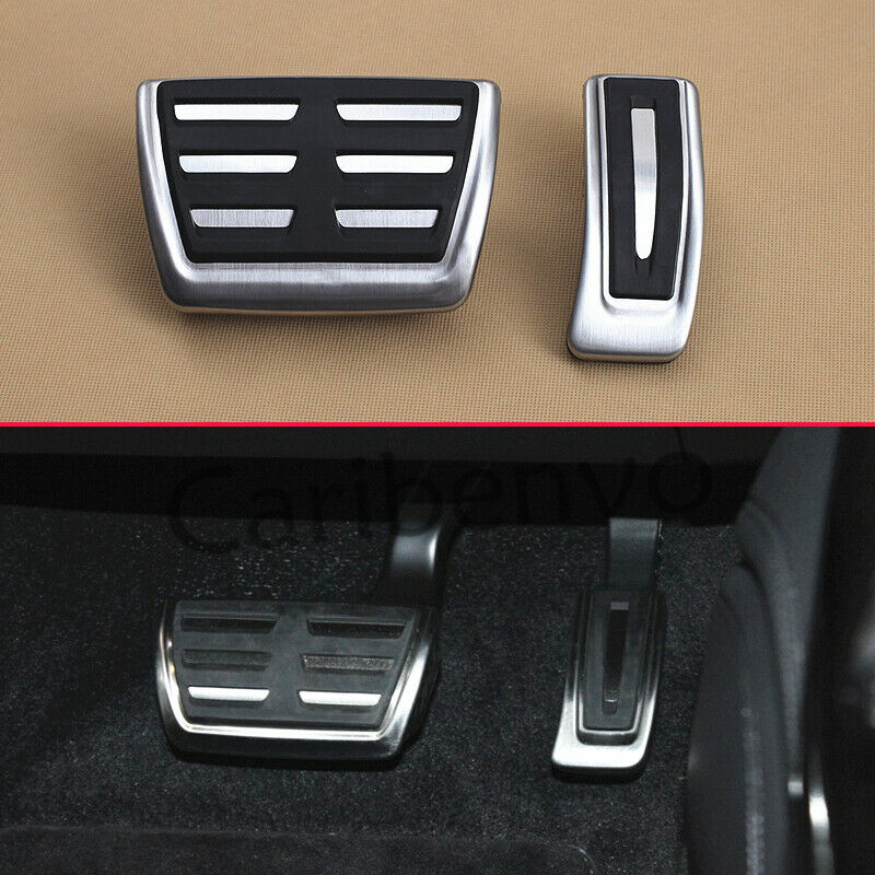 Gas Brake Pedal Anti-slip Accelerator Brake Pedal Cover Compatible with Right rudder A4 B8 A5 A6 A7 2013-2016 AT