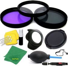 67MM HD 3 FILTER KIT + LENS HOOD+LENS CAP GIFTS FOR Canon EOS 70D 18-135mm