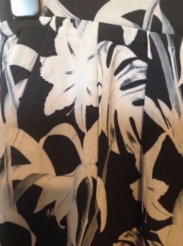 Viz un Viz Palais Noir Lily Stampa Pantaloni Affusolati Taglie 8-22 UK RRP £ 34.50 Nero