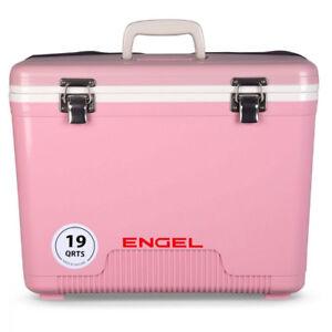 Engel 19 Quart Fishing Bait Dry Box Ice Cooler With Shoulder Strap