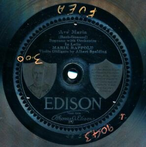 MARIE-RAPPOLD-Soprano-on-1915-Edison-82536-Ave-Maria-Bach-Gounod