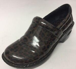 77019cf4accf BOC Born Concept shoes Clogs Size 6 M W Brown Leopard Patent Leather ...